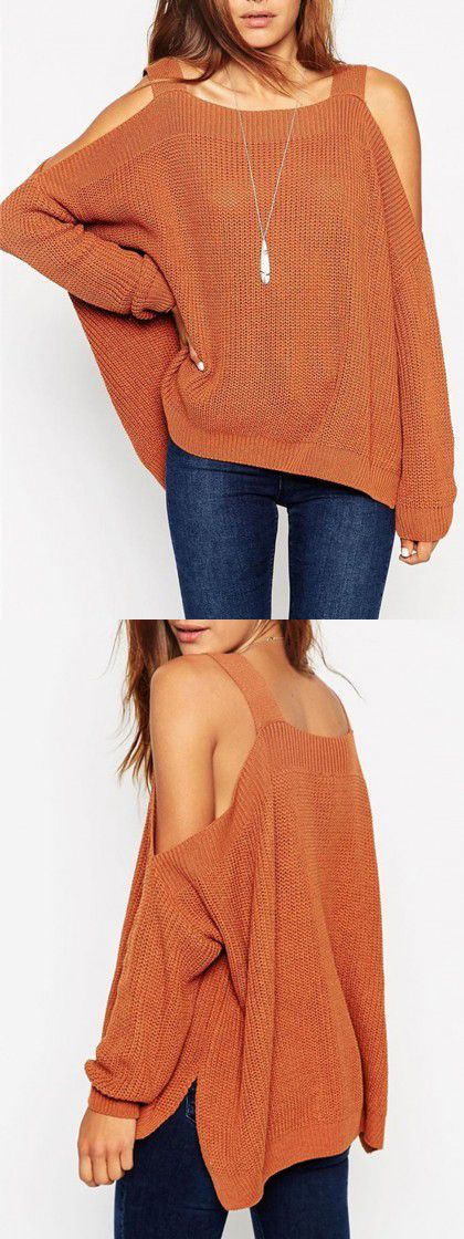 Try something different this season Cool Spring Cold Shoulder Jumper