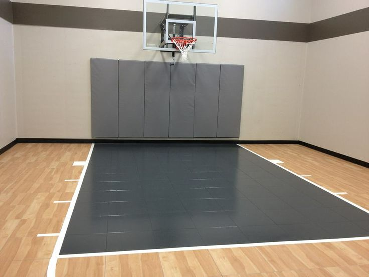Residential Family Indoor Home Basketball Court With