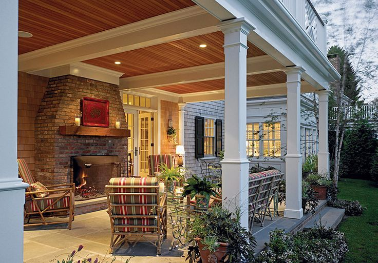 Covered Back Porch   Dream Home   Pinterest   Porches ... on Covered Back Porch Ideas id=67423
