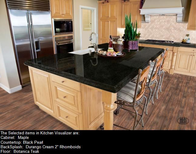 Black pearl granite with maple cabinets | Kitchen ideas ... on Black Granite Countertops With Maple Cabinets  id=27380