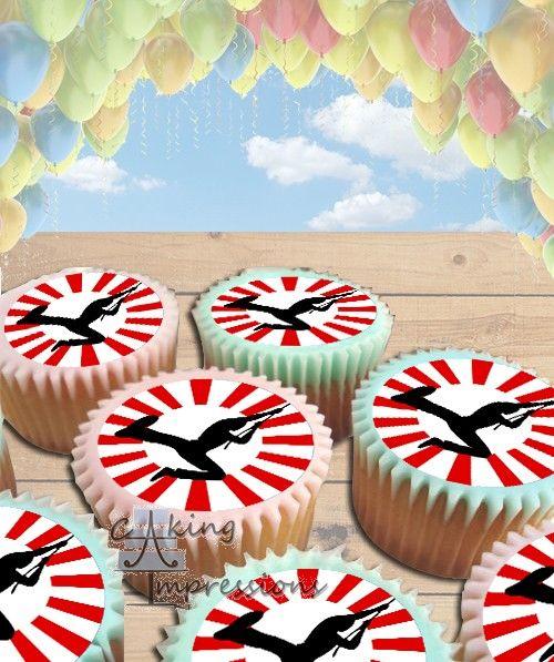 American Ninja Edible Image Cake Topper Cupcakes