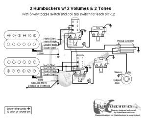 Guitar Wiring Diagram 2 Humbuckers3Way Toggle Switch2