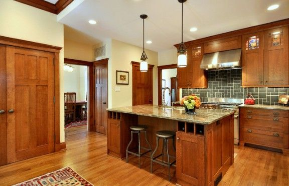 paint colors for honey oak trim mission style kitchen on beautiful kitchen pictures ideas houzz id=29380