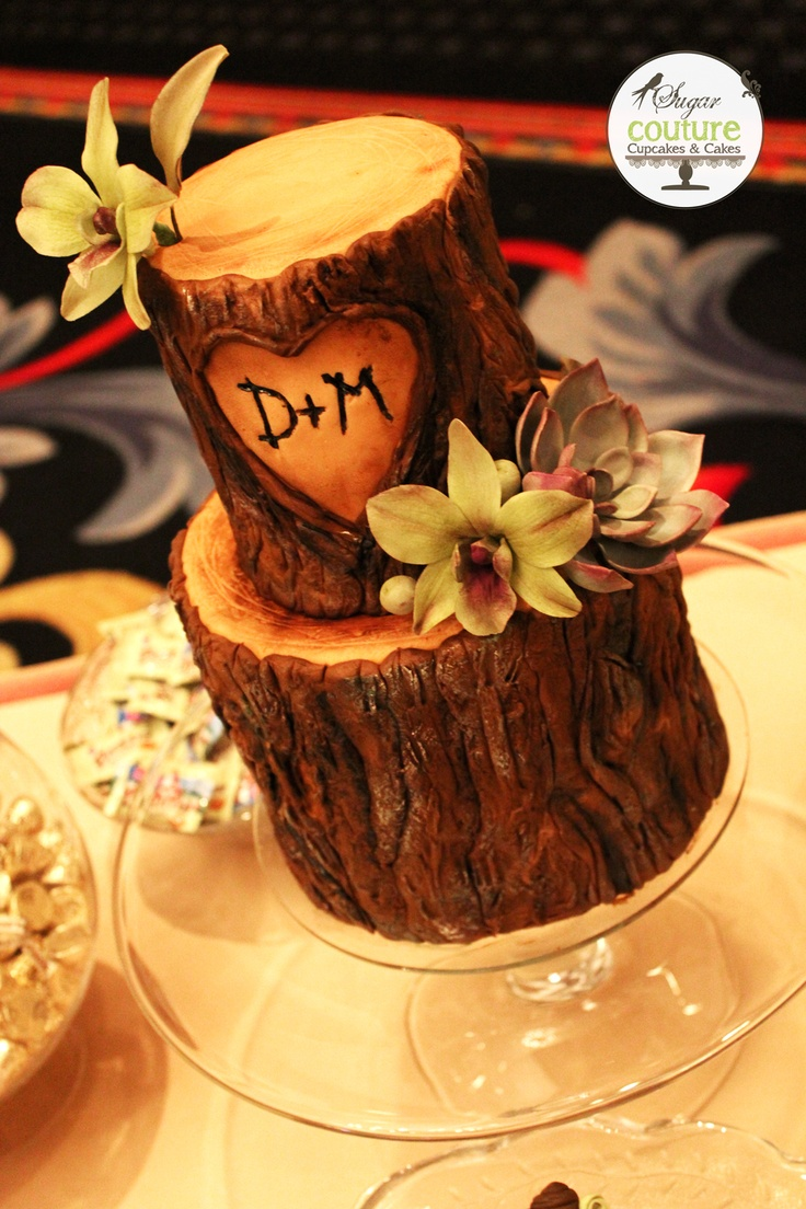 Sugar Couture tree stump we