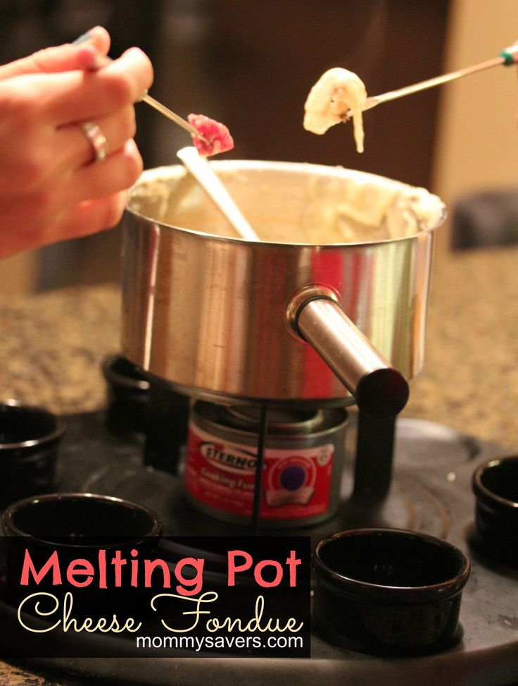 Melting Pot Cheese Fondue Recipe – Easy to make, and a fraction of the price of taking the family out to eat at an expensive
