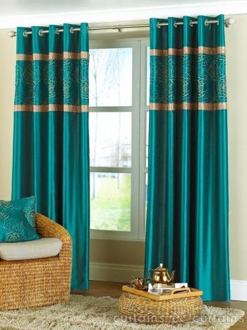 1000 Ideas About Teal Curtains On Pinterest Curtains