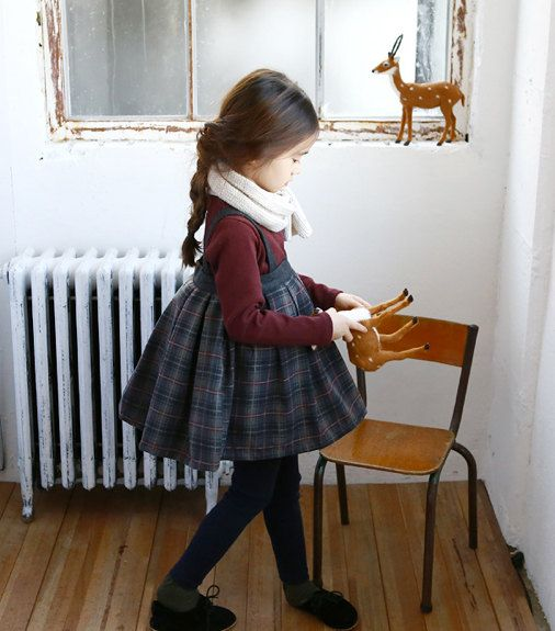 Girls dress for Christmas Everyday Holiday by hellodearkids, $50.00