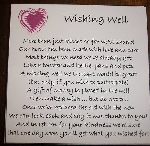 25 Best Ideas About Wishing Well Poems On Pinterest Engagement Poems Wedding Invitation