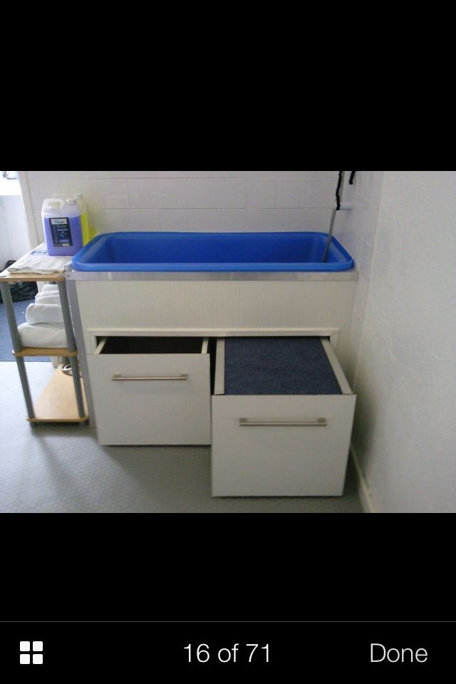 Repinned Grooming Tub Idea Pull Out Step Grooming