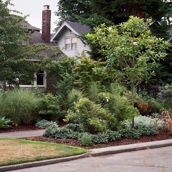 sidewalk garden Front-Yard Sidewalk-Garden Ideas   Gardens, Spring and