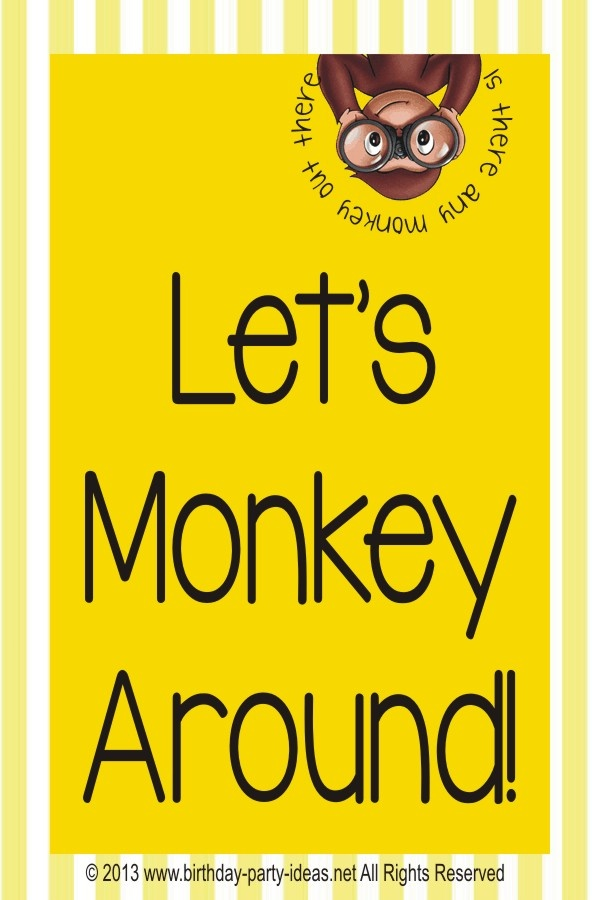 Best Theme Party For Curious George Birthday Party