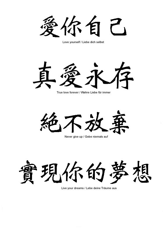 Live Laugh Love Chinese Characters
