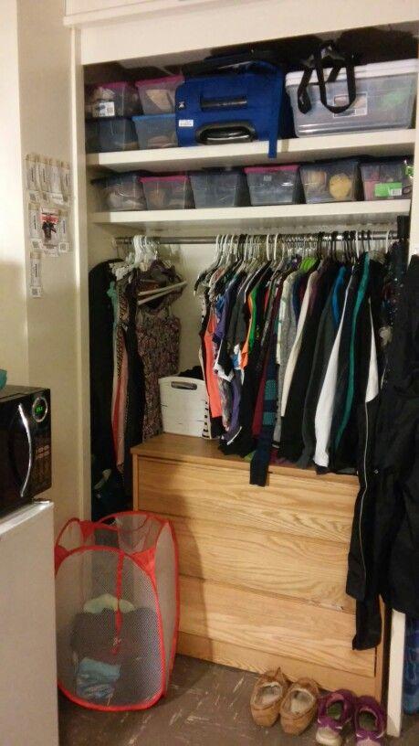 Purdue University Dorm Closet Small Plastic Totes From