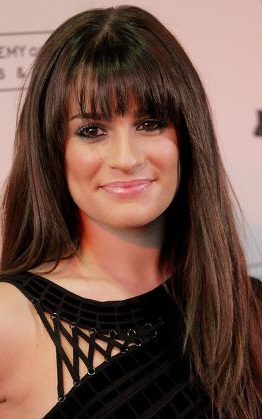 Lea Michele Long Straight Cut With Bangs Just Love My