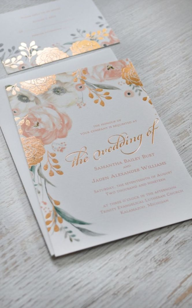 Classic Wedding Invitations For You Ready Made Evening