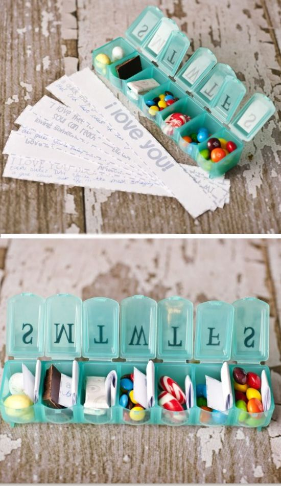Seven Days Of Love   Click Pic for 38 DIY Valentine Gifts for Him   DIY Valentine Gifts for Boyfriend