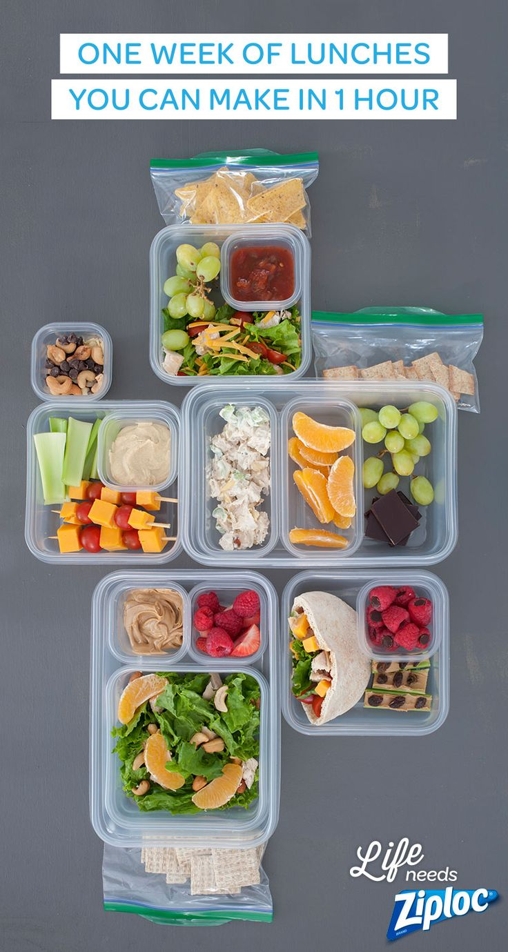 All you need is one grocery list and one hour (and a few Ziploc® bags and containers) for five easy, healthful, make-ahead