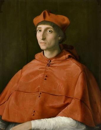 Retrato de el cardenal de Rafael. Retrato de un cardenal ...