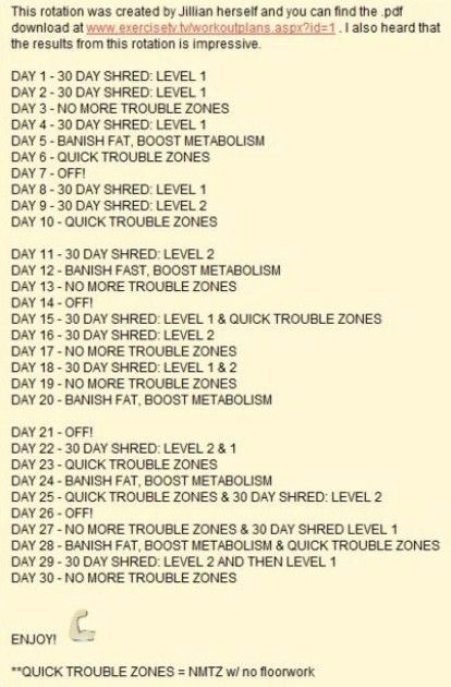 70 best images about 30 day shred on Pinterest Jumping