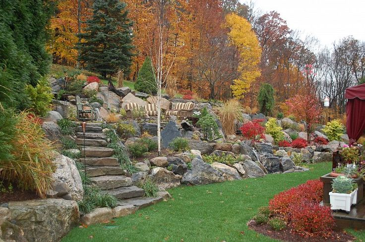1000+ images about Landscape Design on Pinterest | Gardens ... on Backyard Hill Landscaping Ideas  id=36036