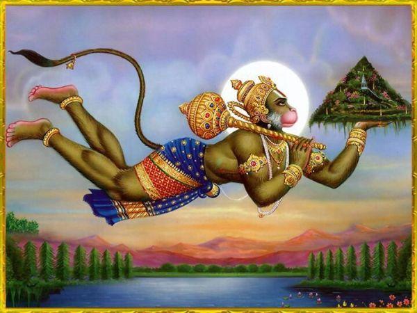 Hanuman, in the epic poem Ramayana, Hanuman goes to get ...