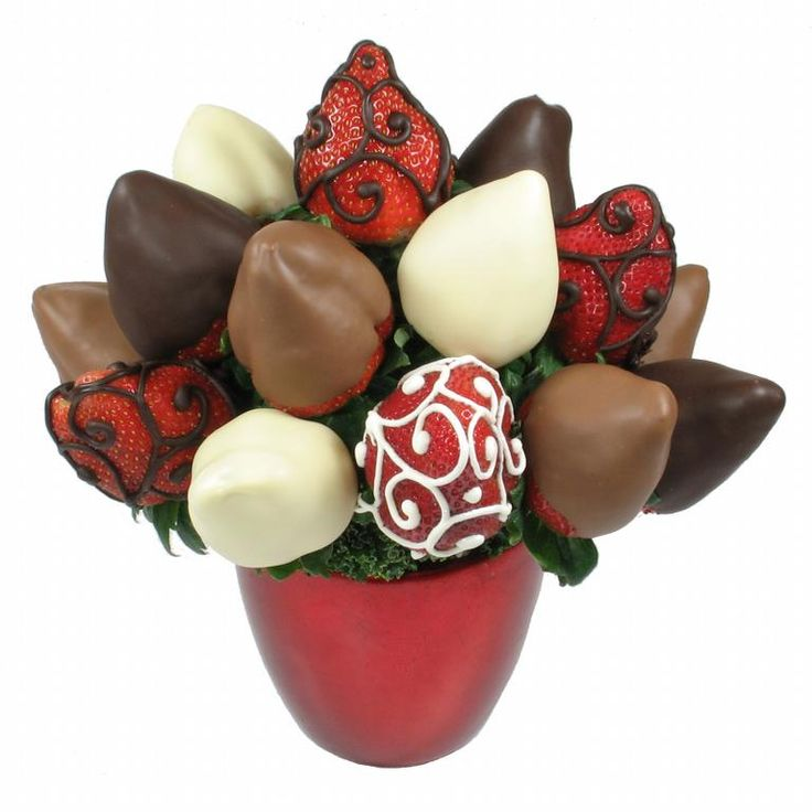 Chocolate Covered Strawberry Bouquet Please For