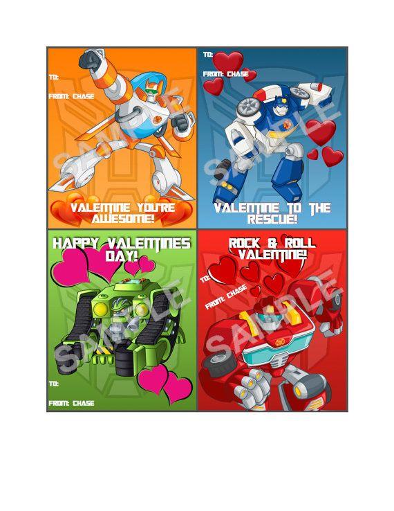 Rescue Bots Valentine Cards 12ct Bonus 2 Extra Cards