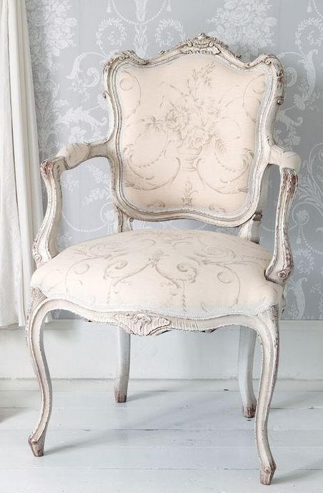 Delicate Pink French Chair With Grey Wash Finish Perfect For A Las Closet Vintage Bedroomvictorian Style