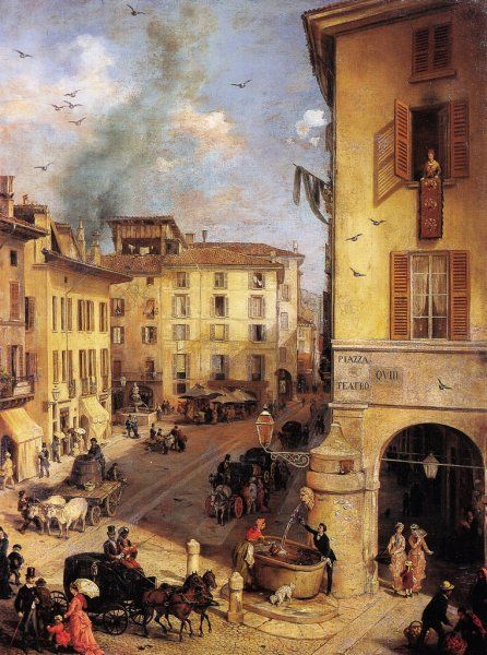 Piazza del Teatro a Brescia con lo scorcio di via Dieci ...