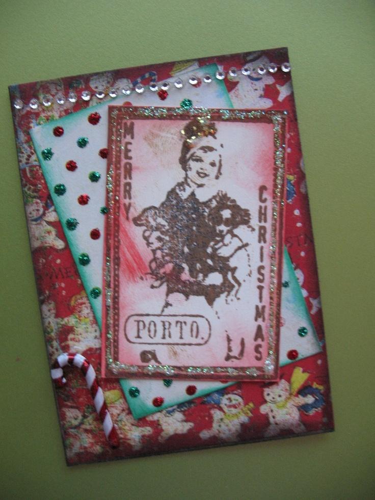 Vintage Themed Christmas ATC Artist Trading Card