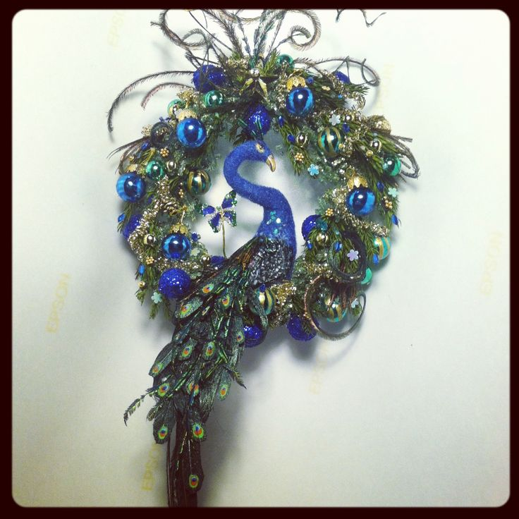 17 Best Images About PeACoCK WReaTHs On Pinterest Peacocks Feathers And Deco Mesh