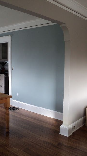 Living In The Rain Garden Room Is Painted Sherwin Williams Amazing Blue Grey Color