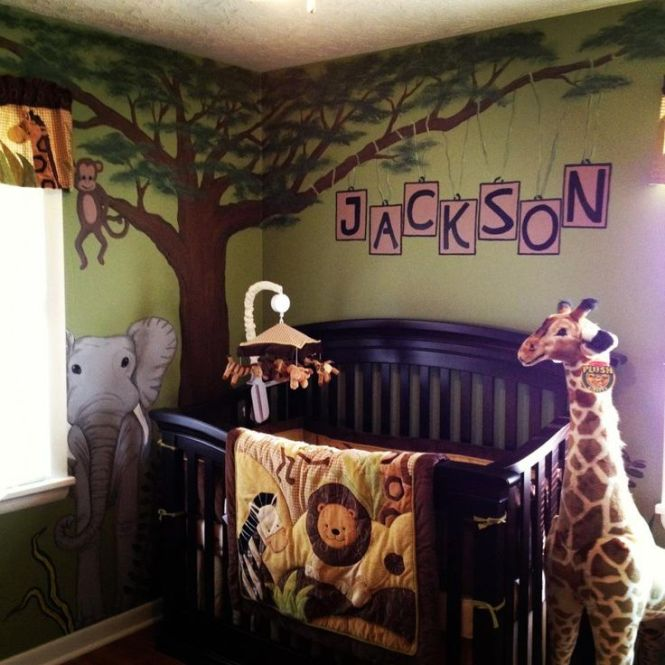 Want To Paint A Jungle Tree In Jerms Room With Branches Going Over His Crib Baby Boy Nursery Themes