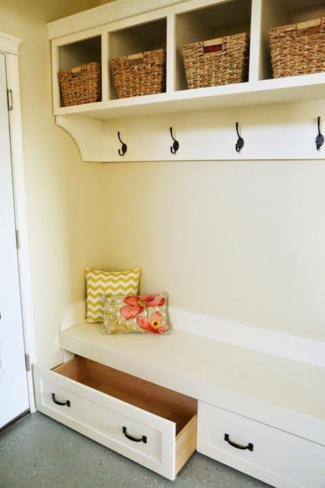 Ana White Build A Under Bench Trundle Drawers Mudroom
