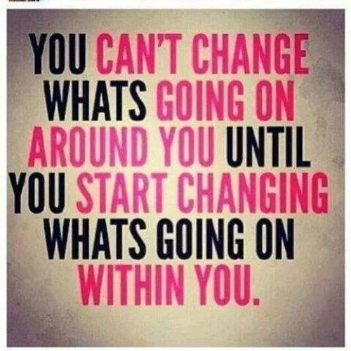 You can't change what's going on around your until you start changing what's going on within you! Come get your fitness on at Powerhouse Gym in West Bloomfield, MI! Just call (248) 539-3370 or visit our website powerhousegym.com/welcome-west-bloomfield-powerhouse-i-41.html for more information!