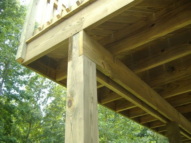Cantilever Decks Decks Deck Supports Steel Or Wood