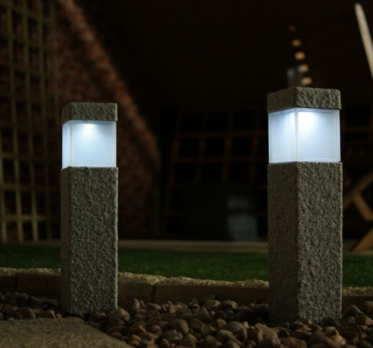 granite modern lamp post fixtures square stone solar on awesome deck patio outdoor lighting ideas that lighten up your space id=46645