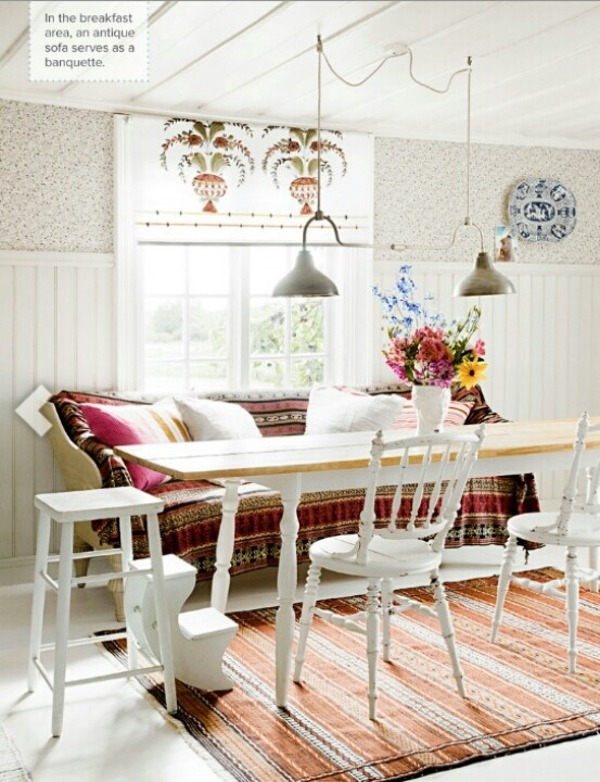 17 best images about banquette dining table on pinterest on boho chic dining room kitchen dining tables id=56938