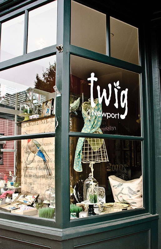 Twig Newport Storefront And Window Signage Whimsical Gift
