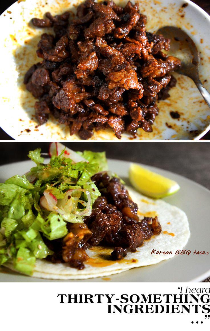 Korean tacos~this marinade