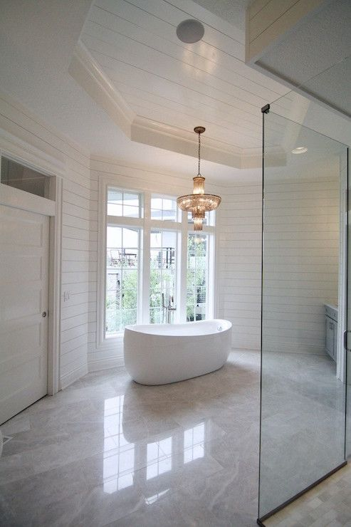 Octagon Tray Ceiling Transitional Bathroom Neighborhood