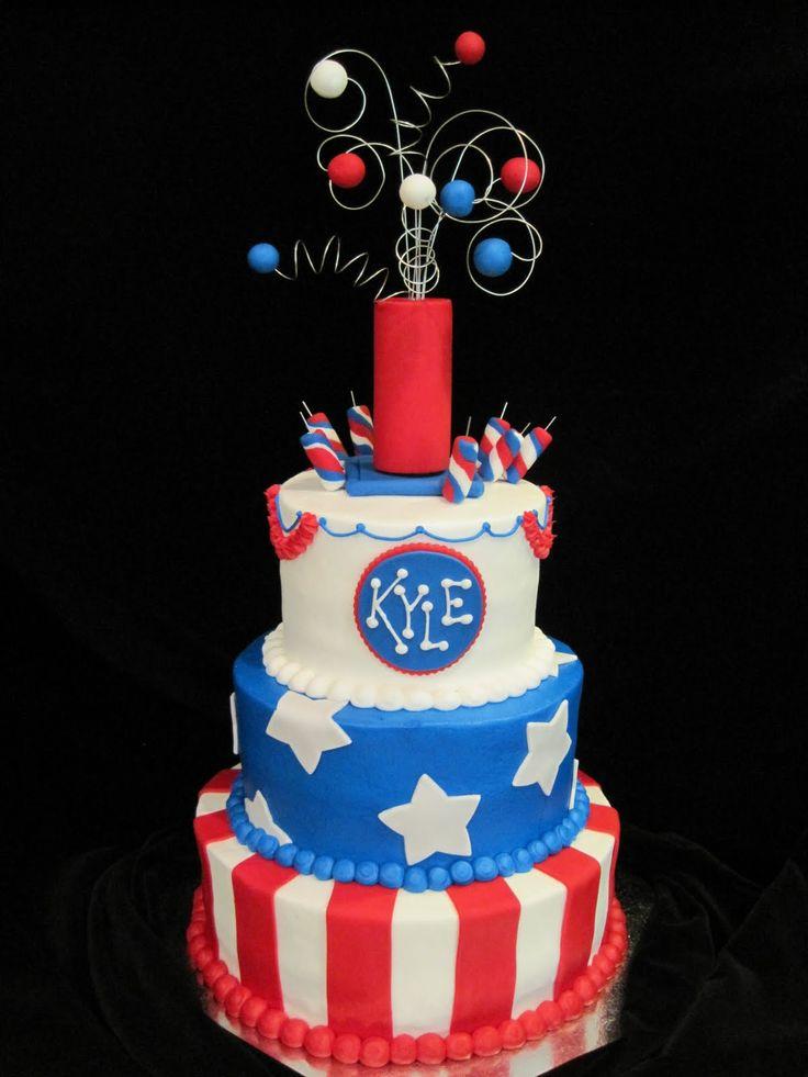 4th Of July Firecracker Cake 4th Of July Pinterest
