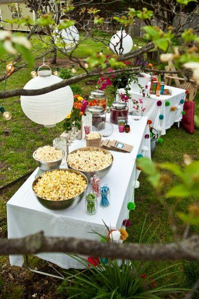 outdoor garden party ideas outdoor party themes; Outdoor Movie Night. | Inspirational