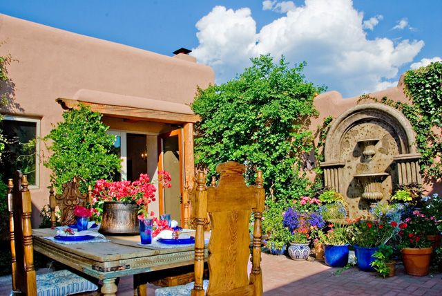Mexican patio | Spanish Colonial, Mediterranean, Mexican ... on Mexican Patio Ideas  id=12806