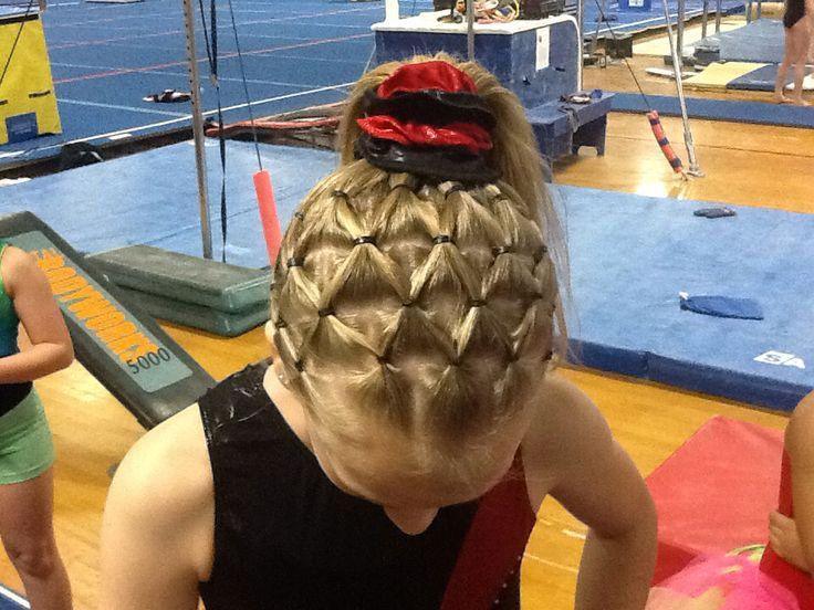 Gymnastics Hairstyle Pineapple Hairstyles Pinterest