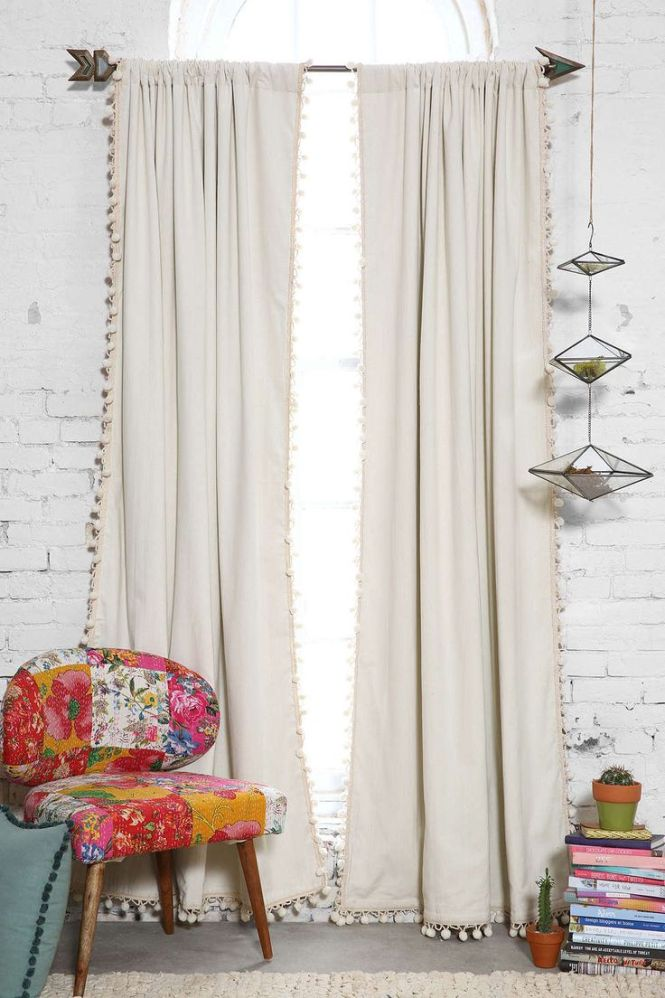 Blackout Pompom Curtain