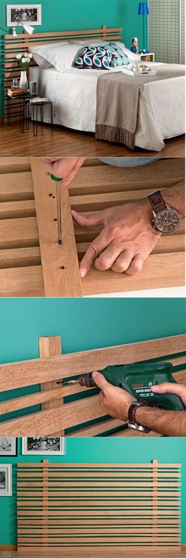 Aprenda a fazer uma cabeceira de ripas de madeira.