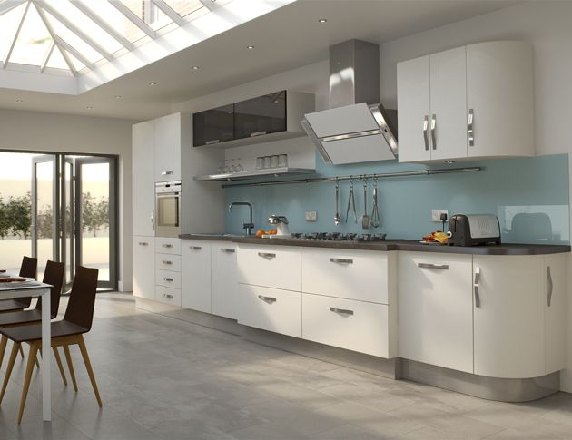 high gloss white kitchen with grey floor creating a trendy white kitchen grey floor the on kitchen ideas white and grey id=72822
