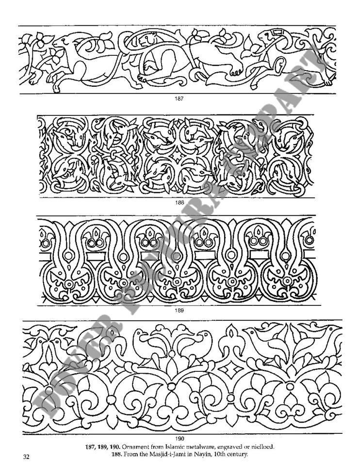Arts And Crafts Style Stencils