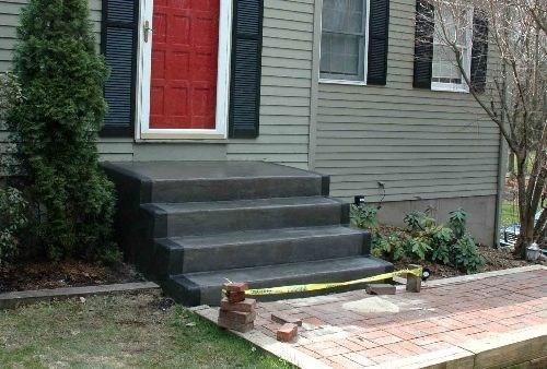 Painted Concrete Steps Patio Pinterest Painted   Painting Outside Concrete Steps